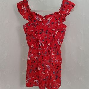 Lily Bleu red girls romper.  Size 12